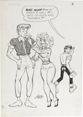 Original Comic Art:Splash Pages, Frank Frazetta and Al Capp - Li'l Abner and the Creatures FromDrop-Outer Space, Splash Page 8 Original Art (Job Corps Give-Aw...