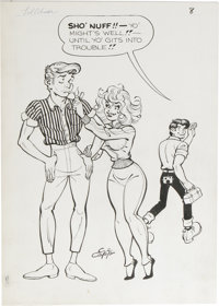 Al Capp Studio Li'l Abner and the Creatures from Drop-Outer Space (#nn) Splash Page 8 Original Art (US Dept. o