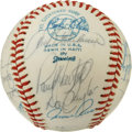 Autographs:Baseballs, 1977 California Angels Team Signed Baseball. A total of 24signatures appear on the OAL (MacPhail) baseball that we see her...
