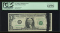 Error Notes:Ink Smears, Fr. 1905-A $1 1969B Federal Reserve Note. PCGS Very Choice New64PPQ.. ...