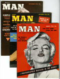 Magazines:Miscellaneous, Modern Man Magazine Group (George E. von Rosen, 1954-56) Condition:Average FN/VF.... (Total: 3 Comic Books)