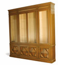 Furniture, A Large Mediterranean Revival-Style Display Cabinet. Unknown maker, American. Circa 1970-1980. Painted pine, brass, glass...