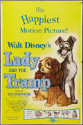 """Movie Posters:Animation, Lady and the Tramp (Buena Vista, R-1962). One Sheet (27"""" X 41"""").Animation.. ..."""
