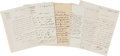 Autographs:Non-American, [Emperor Napoleon III]. Lot of Six Letters from the Reign ofLouis-Napoleon Bonaparte.... (Total: 6 Items)