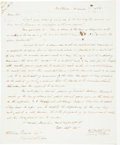 Autographs:Statesmen, [Slavery]. William Wirt Autograph Letter Signed...