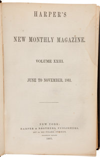 [Civil War]. Harper's New Monthly Magazine Bound Volumes