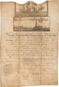 Autographs:U.S. Presidents, James Madison Scalloped-Top Sea Passport Signed...