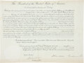 Autographs:U.S. Presidents, Theodore Roosevelt Appointment Signed....