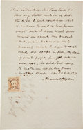 Autographs:Statesmen, Alexander H. Stephens Autograph Document Signed....