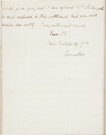 Autographs:Non-American, Charles Cornwallis Autograph Letter Signed...