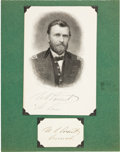 Autographs:U.S. Presidents, Ulysses S. Grant Card Signed...