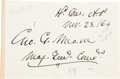 Autographs:Military Figures, George Meade Card Signed...