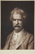 Autographs:Authors, [Mark Twain]. Samuel L. Clemens Photograph Signed...
