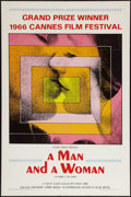 "Movie Posters:Romance, A Man and a Woman (Allied Artists, 1966). One Sheet (27"" X 41""). Romance.. ..."