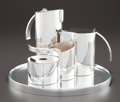 Silver Holloware, Continental:Holloware, A FIVE PIECE LINO SABATTINI SILVER PLATE STAIRS PATTTERN TEAAND COFFEE SERVICE . Lino Sabattini, Bregnano, Ital... (Total: 5Items)
