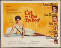 "Cat on a Hot Tin Roof (MGM, 1958). Half Sheet (22"" X 28"") Style B. Drama"