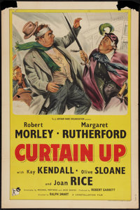 """Curtain Up (Rank, 1952). One Sheet (27"""" X 41""""). Comedy"""