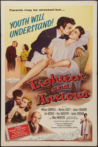 "Eighteen and Anxious (AB-PT Pictures, 1957). One Sheet (27"" X 41""). Drama"