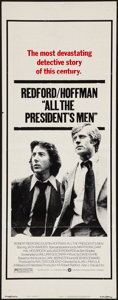 """Movie Posters:Drama, All the President's Men (Warner Brothers, 1976). Insert (14"""" X 36""""). Drama.. ..."""