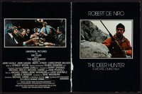 """The Deer Hunter & Others Lot (Universal, 1978). Program (12 Pages, 9.5"""" X 12""""), Half Sheet (22"""" X 28&..."""