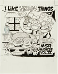 Original Comic Art:Covers, Peter Bagge MSR Madness Vol. VI CD Cover IllustrationOriginal Art (1998)....