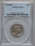 Buffalo Nickels: , 1925-D 5C VF25 PCGS. PCGS Population (19/894). NGC Census:(20/622). Mintage: 4,450,000. Numismedia Wsl. Price for problem ...