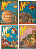 Pulps:Science Fiction, Amazing Stories Group (Ziff-Davis, 1926-30) Condition: AverageVG.... (Total: 17 Comic Books)