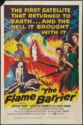 "Movie Posters:Adventure, The Flame Barrier (United Artists, 1958). One Sheet (27"" X 41"").Adventure.. ..."