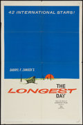 "Movie Posters:War, The Longest Day (20th Century Fox, 1962). One Sheet (27"" X 41""),Lobby Cards (6) (11"" X 14"") and Photo (8"" X 10""). War.. ... (Total:8 Items)"