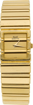 Piaget Lady's Gold Polo Wristwatch, modern