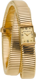 Estate Jewelry:Watches, Blancpain Lady's Gold Wrap Watch, Retailed by Neiman Marcus. ...