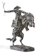 Sculpture, FREDERIC SACKRIDER REMINGTON (American, 1861-1909). Bronco Buster #16, 1895. Bronze with patina. 23 inches (58.4 cm). Si...