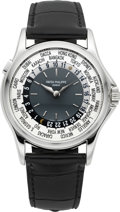 Timepieces:Wristwatch, Patek Philippe Ref. 5110 Platinum World Time Wristwatch, circa2003. ...