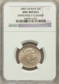 Coins of Hawaii: , 1883 25C Hawaii Quarter -- Improperly Cleaned -- NGC Details. Unc.NGC Census: (6/827). PCGS Population (7/1096). Mintage: ...