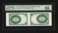 Fractional Currency:Fifth Issue, 10¢ Fifth Issue Tete-Beche Pair PMG Gem Uncirculated 65.. ...