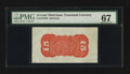 Fractional Currency:Third Issue, Fr. 1276SP 15¢ Third Issue Wide Margin Back PMG Superb Gem Unc 67.. ...