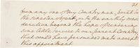 George Washington Autograph Partial Draft of His Inaugural Address