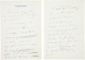 Autographs:U.S. Presidents, John F. Kennedy Autograph Manuscript Announcing His Intention toRun for President...