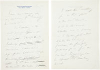 John F. Kennedy Autograph Manuscript Announcing His Intention to Run for President