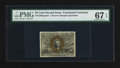 Fractional Currency:Second Issue, Fr. 1283SP 25¢ Second Issue Narrow Margin Face PMG Superb Gem Unc 67 EPQ.. ...