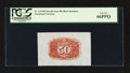 Fractional Currency:Second Issue, Fr. 1314SP 50¢ Second Issue Wide Margin Back PCGS Gem New 66PPQ.. ...