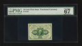 Fractional Currency:First Issue, Fr. 1242 10¢ First Issue PMG Superb Gem Unc 67 EPQ.. ...