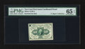 Fractional Currency:First Issue, Milton 1E10F.2 10¢ First Issue Cardboard Proof PMG Gem Uncirculated65 EPQ. . ...