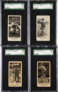 Baseball Cards:Lots, 1916 M101-4, Globe and Standard Biscuit Chicago White SoxSGC-Graded Group (4) With Uncatalogued D350-1! ...
