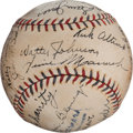Autographs:Baseballs, 1931 Washington Senators Team Signed Baseball with Walter Johnson....