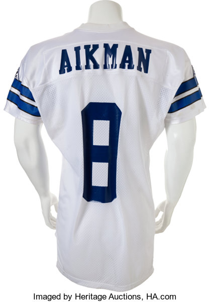 58a034ca 1993 Troy Aikman Practice Worn, Signed Dallas Cowboys Jersey - | Lot ...