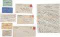 Autographs:Others, 1920's-30's Various Contents of Clyde Milan's Scrapbook....