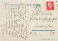 Autographs:Letters, 1929 Ty Cobb Handwritten Signed Postcard....