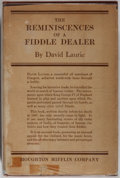 Books:Biography & Memoir, David Laurie. The Reminiscences of a Fiddle Dealer. Boston: Houghton Mifflin, 1925. First American edition. Publ...