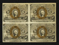 Fractional Currency:Second Issue, Fr. 1233 5¢ Second Issue Block of Four Extremely Fine.. ...
